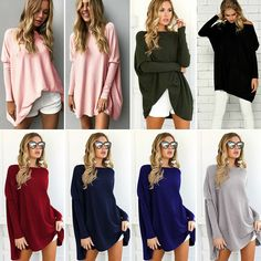 454ae016879 Women Sweater Kintted Long Sleeve V Neck Casual Pullover Jumper Tops Plus  size  fashion  clothing  shoes  accessories  womensclothing  tops (ebay  link)