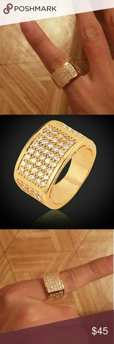 18k Plated Gold Unixes Ring Anillo Unisex , Cubierta de 18k de Oro  FIRM ON PRICE! NO TRADES  FIRME EN EL PRECIO  Sizes 7 to 11 Jewelry Rings