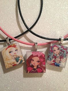 Ever After High Necklace by ItsAGirlThingDesignz on Etsy, $4.95