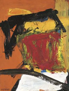 'Red Field' (formerly Black Over Reds) by Franz Kline, 1955