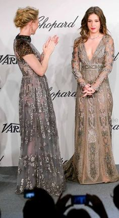Kate Blanchet and Adèle en Valentino au prix Chopard