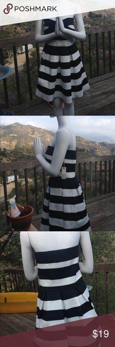 Have PLUS strapless party dress NWOT Adorable strapless fit and flare party dress with stretch. Have plus Dresses Mini