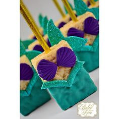 ❋ Mermaid Party krispie treats