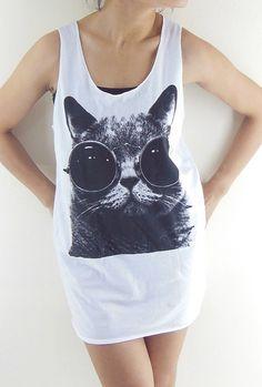 Cat Glasses Shirt  Cat Shirt Cat TShirt Animal by panoTshirt, $15.99