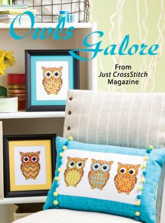 Owls Galore from the May/Jun 2014 issue of Just CrossStitch Magazine. Order a digital copy here: http://www.anniescatalog.com/detail.html?code=AM53352