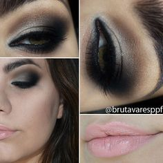 Brown Smokey Eye! @Bruna Coral Coral Coral Tavares