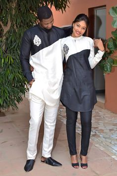 Top 17 Yoruba Demon Wears For First Class African Couples - WearitAfrica Couples African Outfits, African Dresses Men, Latest African Fashion Dresses, Couple Outfits, African Print Fashion, Ankara Fashion, African Prints, African Shirts For Men, African Attire For Men