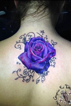 Purple rose tattoo cover up roses tattoo purple rose tattoos, purple butterfly tattoo, rose Lila Tattoos, Trendy Tattoos, Body Art Tattoos, Tattoos For Women, Cool Tattoos, Arm Tattoos, Purple Flower Tattoos, Purple Butterfly Tattoo, Rose Tattoo Cover Up