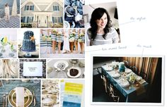 Inspiration Board of Cassandra LaValle's styled wedding table for The Everygirl