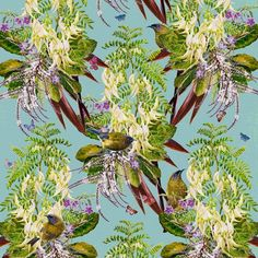 Bellbirds & Kakabeak II (55cm) Flora And Fauna, Limited Edition Prints, Watercolor Paintings, Digital Prints, Vibrant, Bird, Sleeve, Medium, Projects