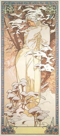 The Seasons: Winter (1900)  Alphonse Mucha