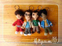 Howard, Leonard, Sheldon, Raj -The Big Bang Theory by Multigurumi.deviantart.com on @DeviantArt