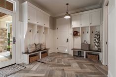 Mud rooms that welcome you into your house and keep all of your items organized and ready to use.