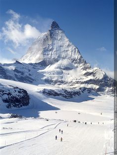 Matterhorn Zermatt Switzerland the skiing area around the matterhorn is amazing CHECK OFF OF MY BUCKET LIST