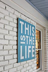 Wood sign...love this for the deck area!!  Finally I found something that I can put up there!!