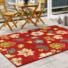 online shopping for Aasen Red Indoor/Outdoor Area Rug Winston Porter from top store. See new offer for Aasen Red Indoor/Outdoor Area Rug Winston Porter Aqua Area Rug, Navy Blue Area Rug, Indoor Outdoor Area Rugs, Outdoor Areas, Home Decor Furniture, Furniture Sale, Garden Furniture, Colour Schemes, Brown And Grey