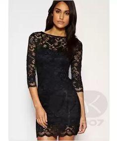 Dámské krajkové Šaty Černé - černá