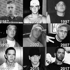 Which year of Eminem do you like the most? The Real Slim Shady, Bob Marley, Rap History, Eminem Rap, Eminem Memes, Eminem Rihanna, Eminem Wallpapers, Arte Hip Hop, Eminem Photos