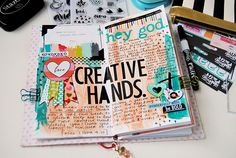 Elaine Davis is creating in her prayer journal and sharing with us what it means to illustrate your faith and that we can do it outside of the margins of our Bible