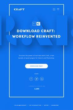 Infographics , UI Design et Web Design - Minimal, clean, blue email design - CoDesign Magazine Html Email Design, Email Template Design, Email Newsletter Design, Email Marketing Design, Newsletter Templates, E-mail Design, Page Design, Layout Design, E Mail Template