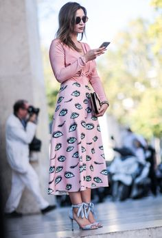 Paris Fashion Week Street Style Spring 2017: See All the Best Looks   StyleCaster ~ETS #eyes #funfashion #pink