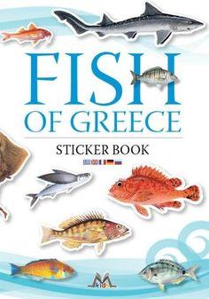 Fish of greece, sticker book, natur book, mediterraneo editions, www.mediterraneo.gr