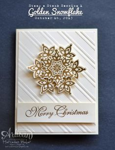 Golden Snowflakes by girl3boys0 - Cards and Paper Crafts at Splitcoaststampers