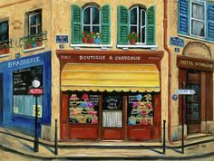 French Hats And Purses Boutique Painting by Marilyn Dunlap