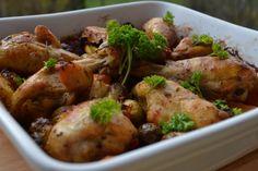 Tepsis csirke - Keva Blog Potato Salad, Potatoes, Meat, Chicken, Ethnic Recipes, Blog, Potato, Blogging, Cubs
