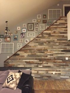 Wood For Walls diy easy peel and stick wood wall decor | reclaimed barn wood