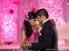 indian wedding groom bride reception dance http://maharaniweddings.com/gallery/photo/11378