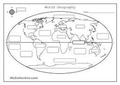 Printables Continents And Oceans Of The World Worksheet