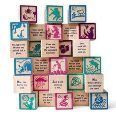 Nursery Rhyme Blocks Set Of 28 now featured on Fab.