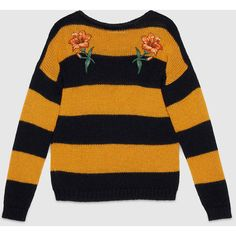 78b0144e Gucci Sweater with flower appliqués (€885) ❤ liked on Polyvore featuring  tops,