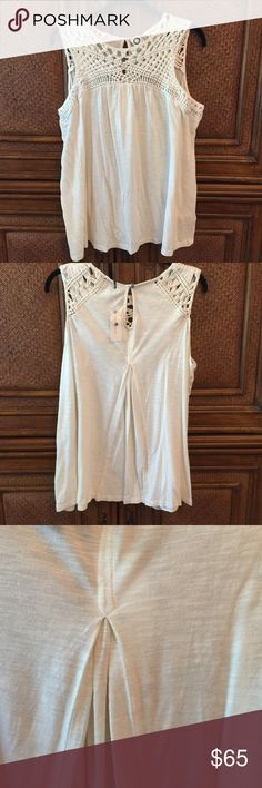 Anthropologie Very soft summer top. NWT off white Anthropologie Very soft summer top. NWT off white or cream Anthropologie Tops Tank Tops