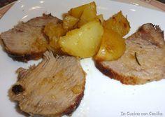 Arrosto di vitello al limone con patate