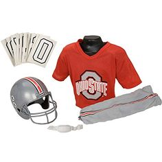 199516ecba6 Franklin Sports NCAA Ohio State Buckeyes Deluxe Youth Team Uniform Set,  Small Select your favourite