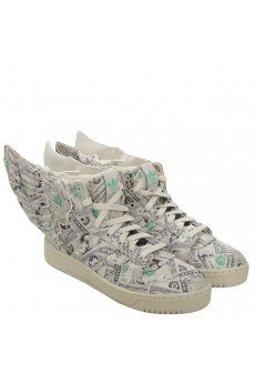 super cute 71f83 018e9 Wings 2.0 Money Print Beige Green   Jeremy Scott for Adidas