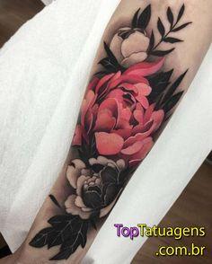 50 Sleeve Tattoos for Women - Flower Tattoos - Tattoo Designs For Women Best Sleeve Tattoos, Sleeve Tattoos For Women, Back Tattoos, Wrist Tattoos, Body Art Tattoos, Colorful Sleeve Tattoos, Flower Sleeve Tattoos, Tattoo Sleeves, Black Flower Tattoos