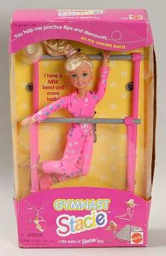 90s Stacie Gymnast Barbie Doll