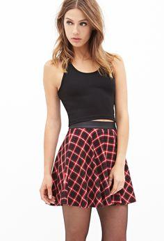 Plaid Skater Skirt | FOREVER21 - 2000083437