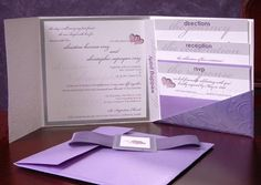 Invitations, Purple, Marivics card company
