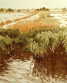 Quiet Flood - Original Etchings by Jan Dingle