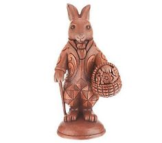 Jim Shore Heartwood Creek 3rd Annual Chocolate Bunny Figurine