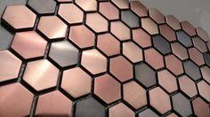 Hexagon-mosaics-tile-copper-rose-gold-color-black-stainless-steel-backsplash-kitchen-tiles-bath-walls-shower.jpg (750×421)