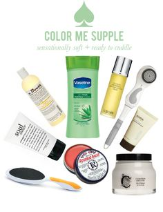 This collection of supple skin enhancing products features many of my faves: clarisonic, philosophy foot cream, ahava (ahava anything really), & rosebud salve!! Girl essentials.