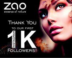 Like @zaomakeup_official, @zaoorganicmakeup reach 1k followers on Instagram ! Congratulations #zaomakeup #makeupbioaddicted #makeupbio #maquillagenaturel