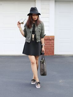 f7b1789e3a28 Talking sneaker chic look with DSW Shoe Hookup - Back to Class campaign on  My Fashion Juice. Get tips on dressing up sneakers and enter our contest  with DSW