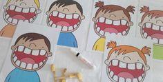 Jeu pour apprendre à se brosser les dents Dental Health, Dental Care, Dental Hygiene, Brush My Teeth, Community Helpers, Kids Room Design, Tot School, Dramatic Play, Science Classroom