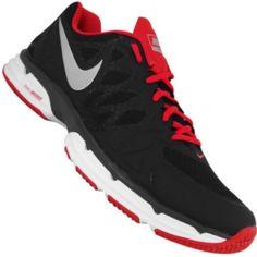 52295573b Tênis Nike Dual Fusion TR 6 Masculino Preto   Vermelho   Branco